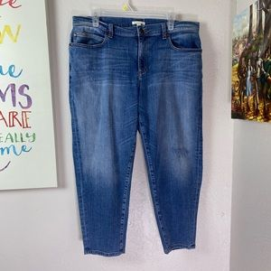 Eileen Fisher Cropped Light Wash Jeans SZ 14